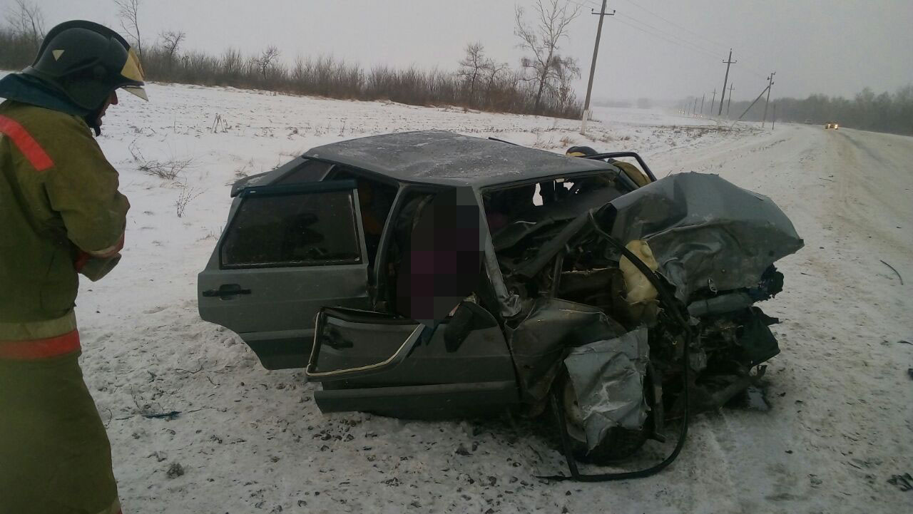 В Башкирии столкнулись  «ВАЗ-2114» и «Хундай», двое погибших